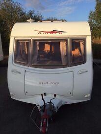 Coachman Amara 580/4 small twin axle 4 berth with large end washroom