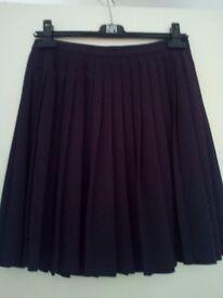 APC navy pleated skirt size 8