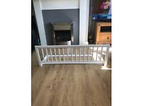 White wooden bed safety rail / bed guard