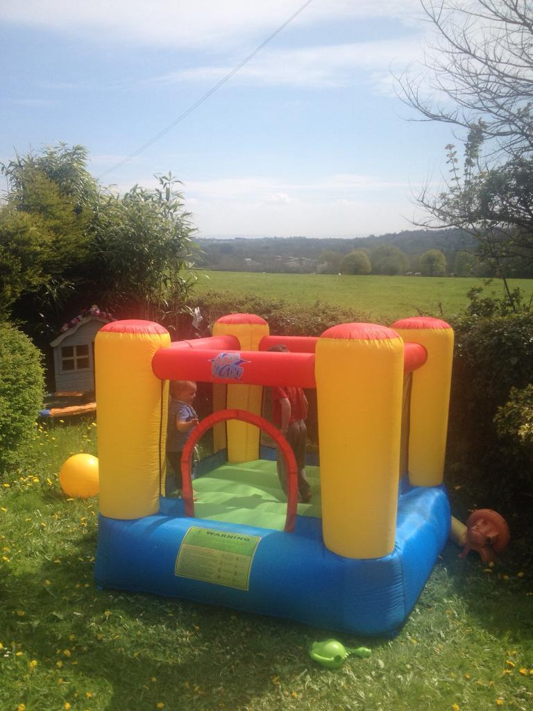 Toddler Small Children's Bouncy castle with pump Christmas present