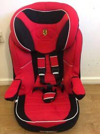 Seducaria Ferrari red&black bosster seat