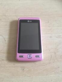 PINK LG TOUCHSCREEN MOBILE PHONE FULLY WORKING