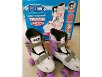 Girl's Roller Derby Adjustable Skates & Safety Gear