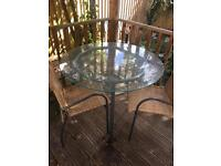 Ikea circle glass top table & 4 chairs