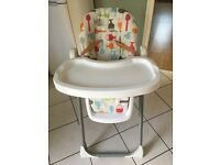 Cosatto reclining height adjustable highchair