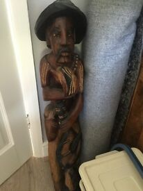 Solid wood figure