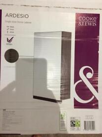 Bathroom cabinet - grey - unused - Cooke and Lewis
