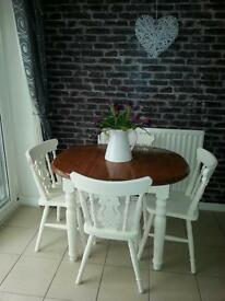 Stunning solid wood upcycle extending dining table can deliver
