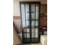 FREE Black glass fronted 2 door display cabinet