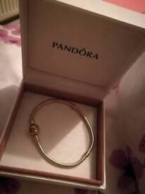 Pandora bracelet with box hardly worn