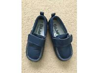 Navy Blue Soft Leather Loafers