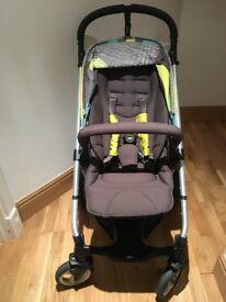 Mamas & Papas Sola 2 unisex green pram/pushchair with car seat adaptors