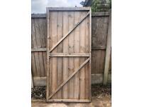 Garden wooden gate