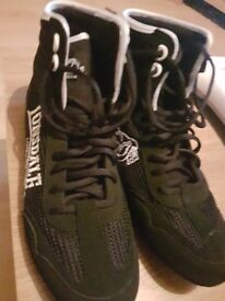 Lonsdale boxing shoes and 12oz gloves