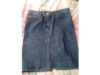 Jasper Conran denim skirt size 14