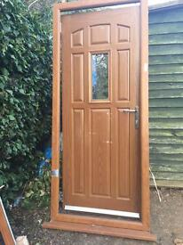 Heritage oak UPVC front door - only 2 years old!!