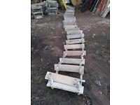 hardwood rope ladder.boat.harbour or treehouse