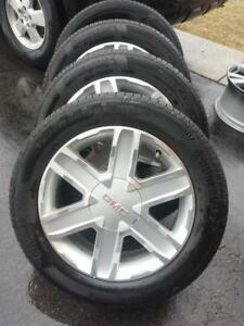 GMC TERRAIN FACTORY OEM 17 INCH ALLOY WHEELS WITH HIGH PERFORMANCE CONTINENTAL TRUECONTACT  235 / 55 / 18 ALL SEASONS.