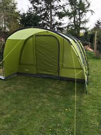 Vango avington 500 xl tent with carpet and footprint and exceed side awning tall.