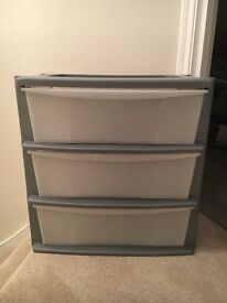 Wide plastic storage tower - BRAND NEW, NEVER USED