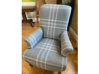 Classic style 100% wool and oak armchair from sofa . com