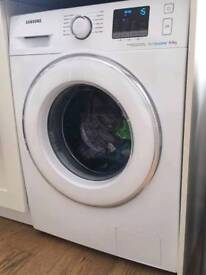 White Samsung super silent Ecobubble 8 kg washing machine
