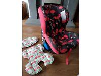 Cosatto flamingo car seat group 1 &2