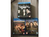 Twilight Blu-Rays Full Set of 5 Films