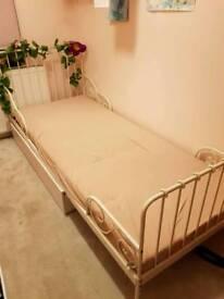 Ikea metal extending bed