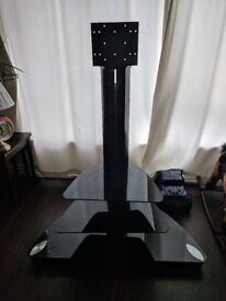Tv stand black gloss glass very good condition