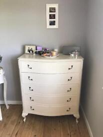 Shabby Chic Louis French Style Wooden Chest of Draws