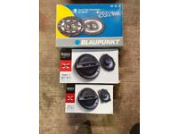 three pairs of car speakers