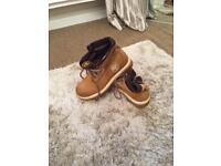 Timberland boots women's roll top size 4
