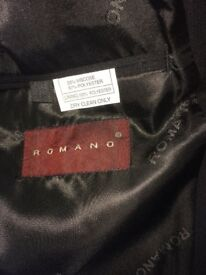 Romano boys black single breasted jacket