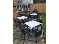 Rattan Patio Tables and Chairs