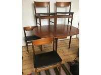 Mid-century G-Plan style Gate leg dining table and 4 chairs - £85