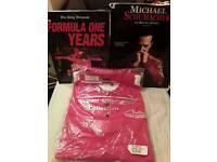 Official F1 Michael Shumacher Polo Shirt & 2 Books.