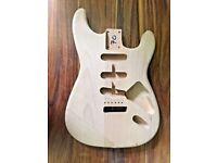 Stratocaster Guitar Body. New Unfinished 2nd, Alder, Weight 1.82kg