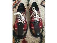 Tartan leather shoes size 41