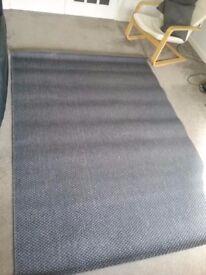 Ikea Morum Rug Grey Woven