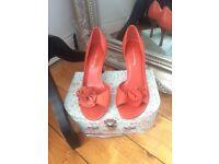 Beautiful Orange leather heels