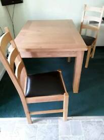 Dining table and 4