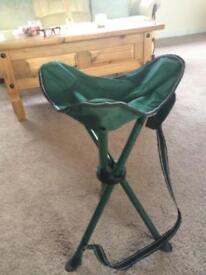 Quality folding fishing seat. Unused