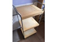 TROLLEY ON WHEELS, ELECTRIC MOWER, WARDROBE, RED GRANITE DINING TABLE & MENS SAFETY BOOTS