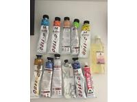 Oil paints (11 tubes)