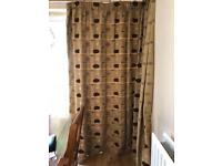 Large made-to-measure curtains
