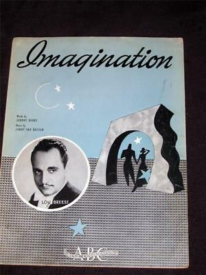 40's 1940 Lou Breese hit Imagination sheet music