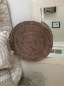 Circular wall art bamboo, 61 cm in diameter