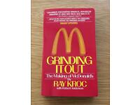 Grinding It Out - book - The Making of MacDonald's by Ray Kroc