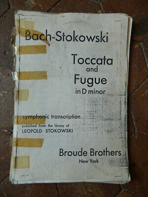 BACH Stokowski TOCCATA and FUGUE in D minor Broude